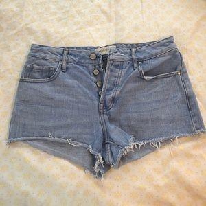 Pacsun Button Up Denim Cutoff Shorts